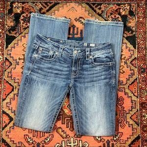 Miss Me Light Wash Signature Boot Cut Jeans